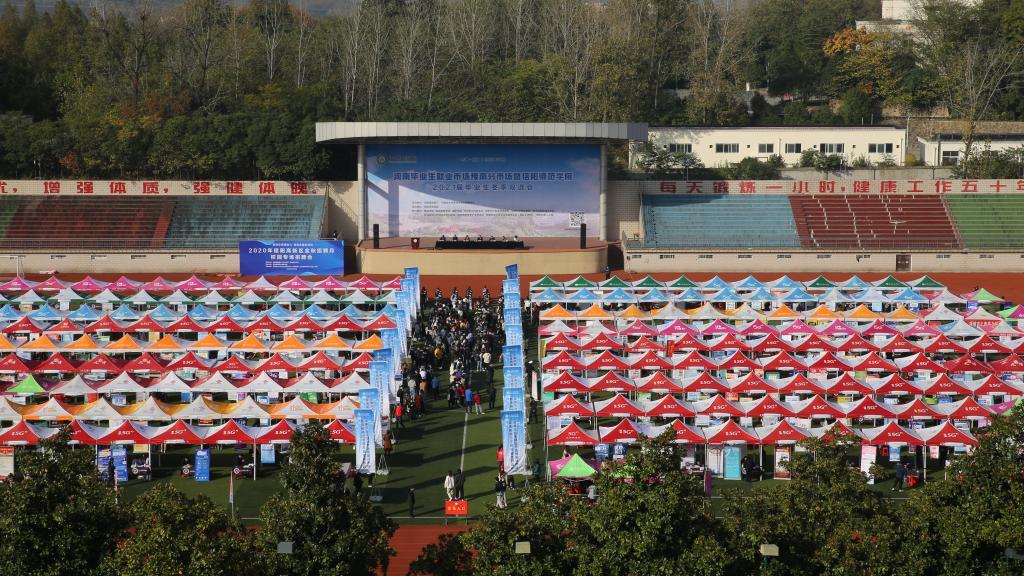 河南省毕业生就业市场豫南分市场冬季双选会在信阳师院举办