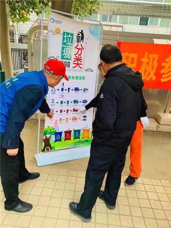 分类有道 垃圾成宝 河南森贝特联合郑州市三官庙街道开展垃圾分类宣传活动