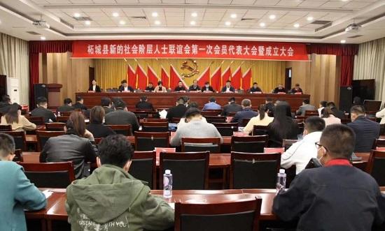 商丘市柘城县新的社会阶层人士联谊会第一次会员代表大会暨成立大会召开
