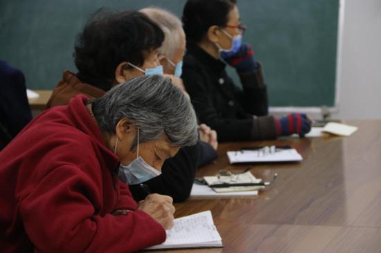 郑州市花园路街道办事处老年大学举行冬季养生活动
