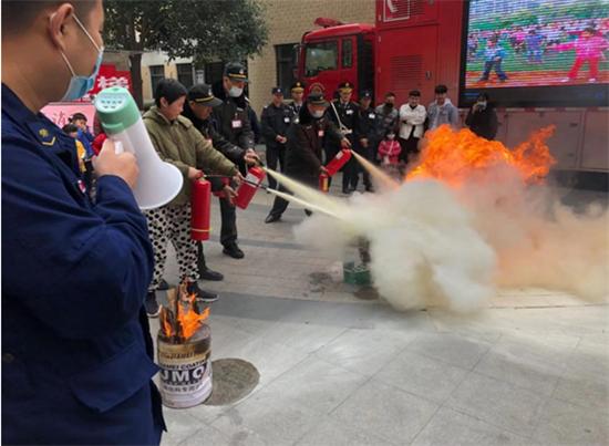 """郑州市文化路街道组织社区开展""""119""""消防宣传教育活动"""