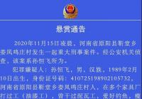 新乡原阳杀害一家6口嫌犯仍在逃 当地警方悬赏20万征集线索