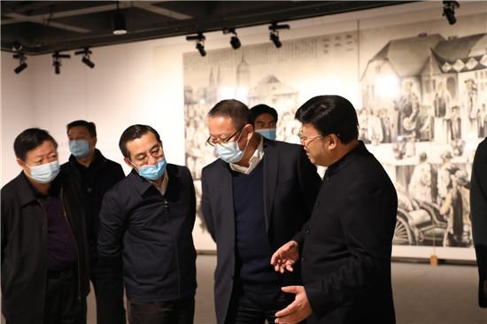 """民革河南省委会在郑州举办""""战疫给我们的启示--与时代同行""""大型书画展"""