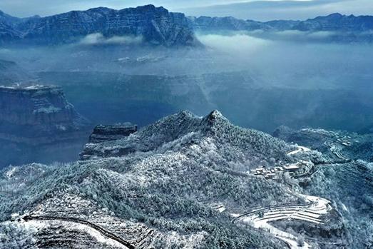 林州太行山:雾凇美景惹人醉