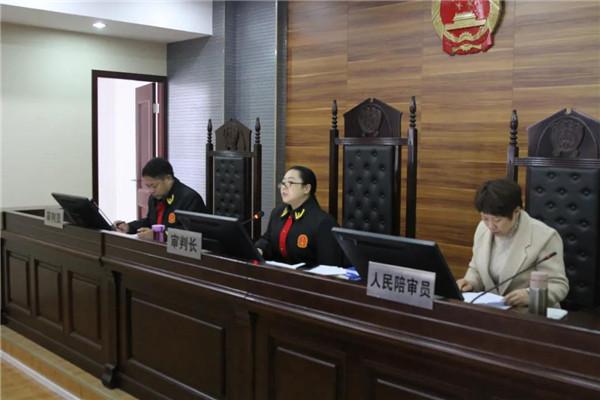 社旗法院公开审理服务跨境赌博案件