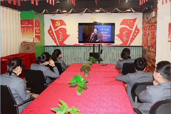 中牟大厦新阶层志愿者观看中央统战工作视频会议