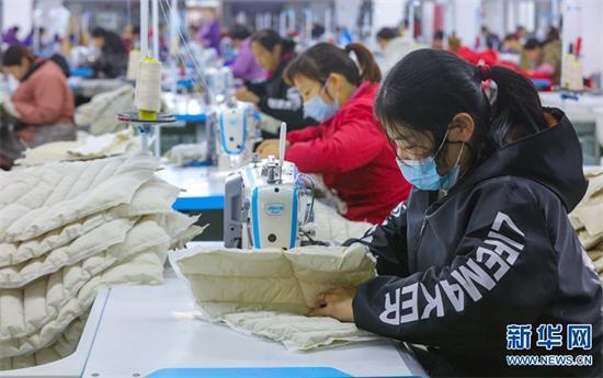 【决胜2020】河南光山: 小羽绒成就大产业