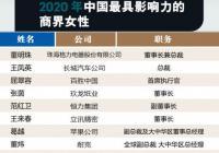 2020中国最具影响力商界女性:董明珠排第一 薇娅李子柒上榜
