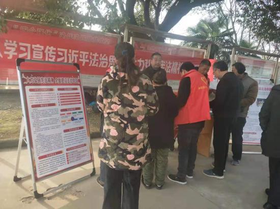 驻马店市驿城区司法局香山司法所举办宪法宣传周活动