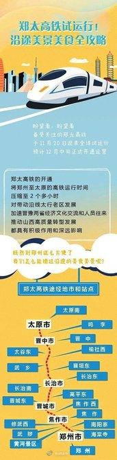 早上胡辣汤,中午刀削面!郑太高铁将于12月12日通车运营