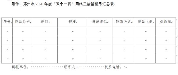 """郑州2020年度""""网聚正能量奋进新时代""""网络正能量精品推选活动正式启动"""