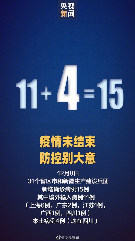 31省区市新增15例确诊 四川新增4例本土确诊