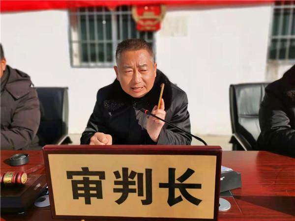 唐河县法院基层法庭巡回审理赡养案速写