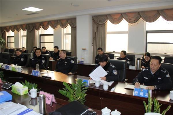 南阳市文明办考核组莅临新野县公安局检查验收省级文明单位创建工作