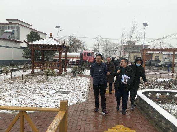交通银行河南省分行领导冒风雪赴正阳县熊寨镇王楼村调研走访