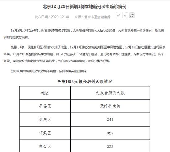 详情通报!北京新增1例本地确诊:4岁男童