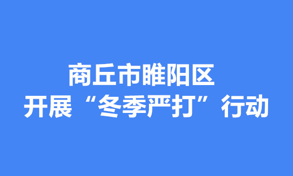 """睢阳区开展""""冬季严打""""行动 保障治安大局和谐稳定"""