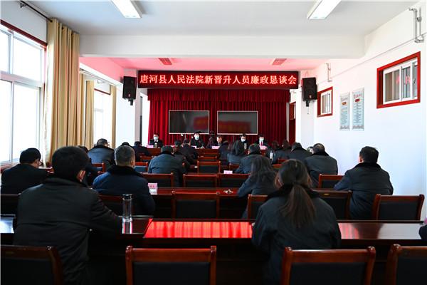 唐河县人民法院召开新晋升人员廉政恳谈会