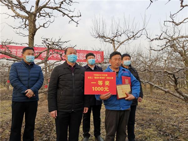"""宁陵县举办2021年首届返乡农民工 """"酥梨冬季修剪""""技能比赛"""