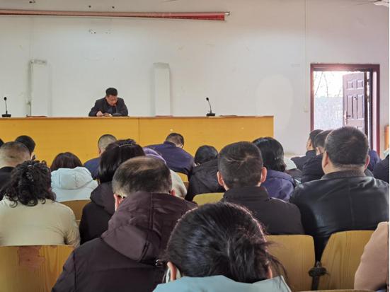 郑州市金水区国基路街道传达学习市委十一届十三次全会精神