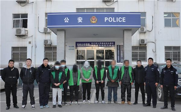 邓州市警方成功破获系列盗窃工地电缆案