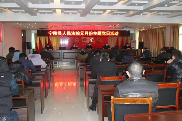 宁陵县法院开展元月份主题党日活动