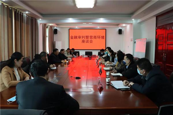 南阳宛城区法院召开2020年金融审判暨营商环境座谈会