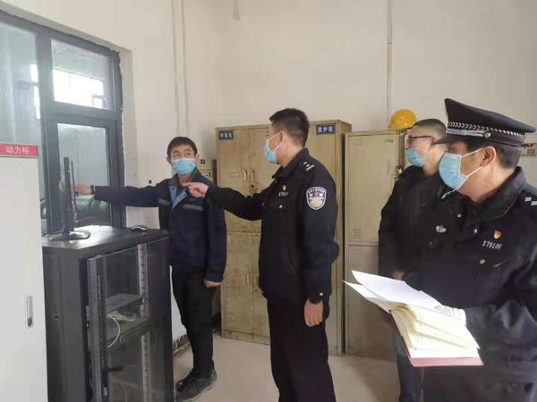 把好安全关 驻马店市示范区公安分局对辖区自来水厂开展安全检查