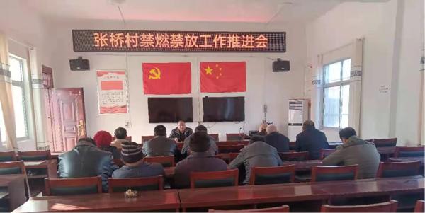 新蔡县余店镇张桥村扎实推进春节期间禁燃禁放工作