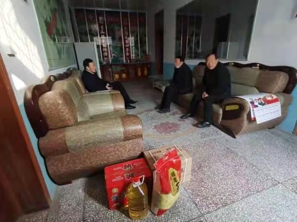 汝南县金铺镇开展走访慰问退役军人迎新春活动