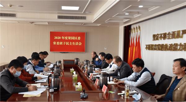 商丘市梁园区召开2020年度区委常委民主生活会