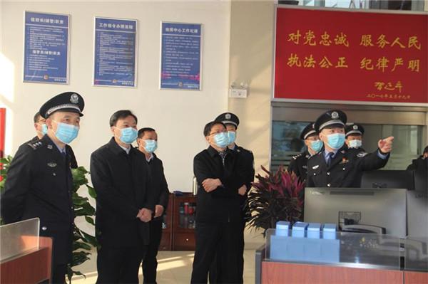 新野县领导看望慰问公安民警
