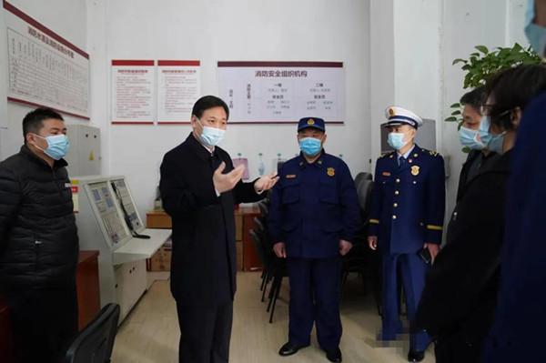 南阳市副市长石秀田带队开展春节消防检查并慰问坚守一线消防指战员