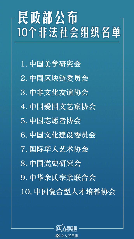 当心!这些都是非法社会组织,民政部公布10个非法社会组织名单