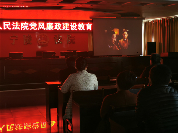 宁陵县法院开展党风廉政建设教育活动