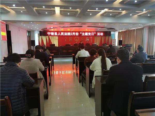 宁陵县法院开展2月份主题党日活动