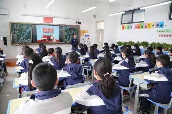 """郑州航空港实验区春期""""开学第一课学消防"""" 活动启动"""