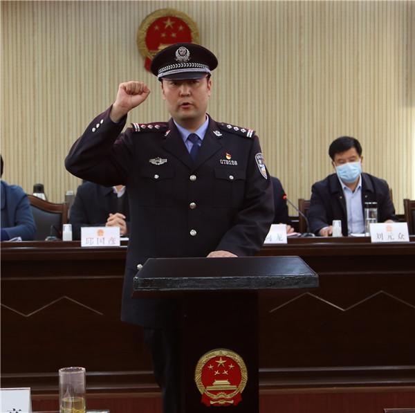 社旗县人大常委会任命杜鑫同志为县公安局局长
