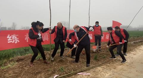 驻马店市新蔡县练村镇开展义务植树造林