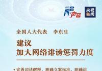 【全国两会】全国人大代表:建议加大网络诽谤惩罚力度