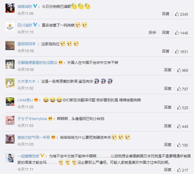 消防员出警遇外国人在线求助女友 网友:今日份狗粮已满额