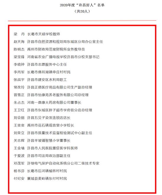 第五届许昌市道德模范名单出炉!