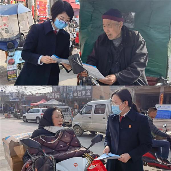 邓州市公检法联合开展普法宣传活动