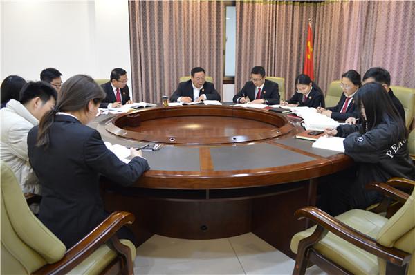 邓州市法院:院长领学典型案例 筑牢干警思想防线