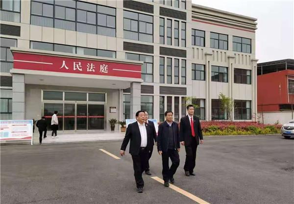 邓州市委常委、政法委书记绳应勇到市法院张村法庭调研指导工作