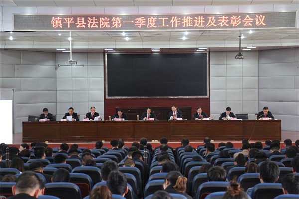 镇平县法院召开2021年第一季度工作推进会