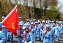 """特殊的成长礼!郑州二七区京广路小学开展""""少年红军重走长征路""""活动"""
