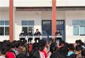 新野县歪子派出所:普法宣传进学校 强化检查护平安