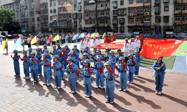 """郑州二七区京广路小学庆祝中国共产党成立100周年""""重走长征路""""运动会"""