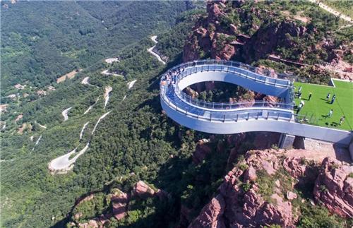 五一假期伏羲山旅游区共接待游客达40万人次,创接待人数新高